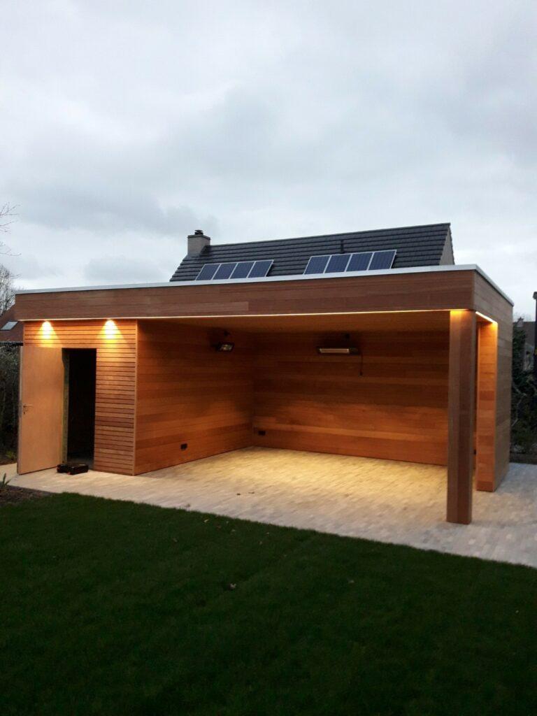 Elektrische installatie en sanitair tuinhuis